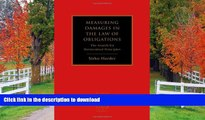FAVORITE BOOK  Measuring Damages in the Law of Obligations: The Search for Harmonised Principles