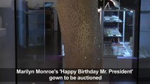 Iconic Marilyn Monroe 'Happy Birthday' up for auction