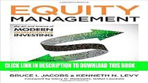 Equity Management The Art and Science of Modern Quantitative Investing Second Edition