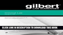 PDF Gilbert Law Summary on Criminal Law (Gilbert Law Summaries) Popular Online