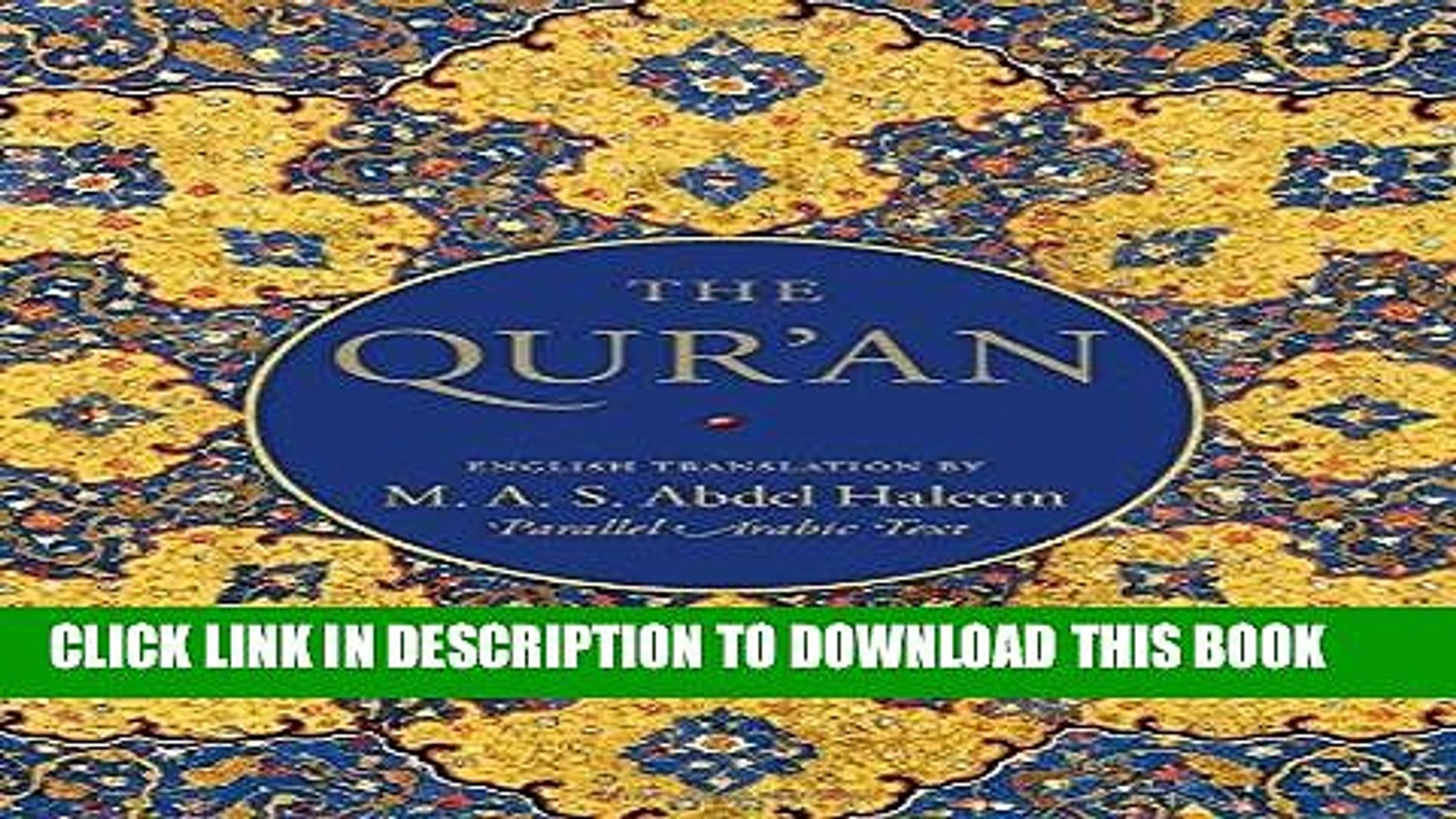 PDF The Qur an: English translation and Parallel Arabic text Full Collection