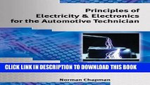 Read Now Principles of Electricity   Electronics for the Automotive Technician Download Book