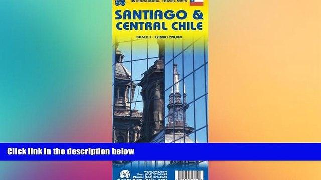 Buy NOW  Santiago de Chile 1:12,500 Street Map   Central Chile 1:720,000 Travel Map (International