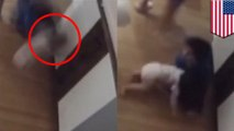 9-year-old boy heroically catches baby brother falling from diaper changing table