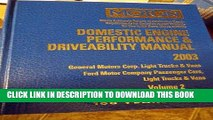 Read Now Domestic Engine Performance and Driveability Manual 2003 (Motor Domestic Engine