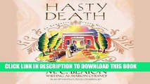 Read Now Hasty Death  (Edwardian Murder Mysteries, Book 2) (Edwardian Murder Mysteries (Audio))