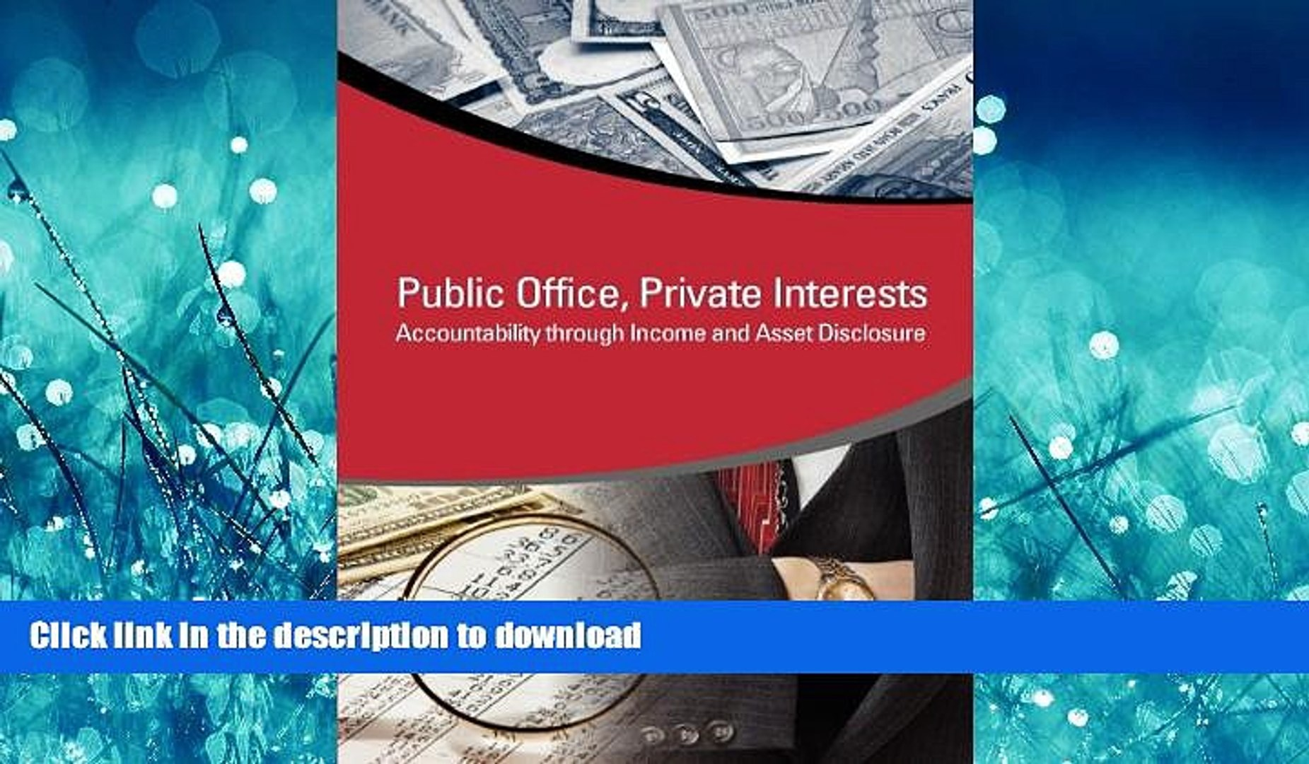 READ  Public Office, Private Interests: Accountability through Income and Asset Disclosure (StAR