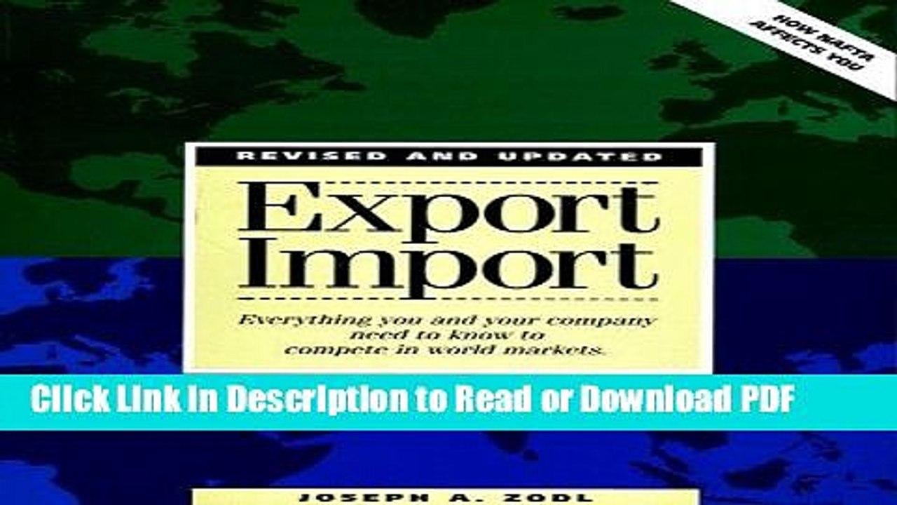 Read Export Import Free Books