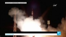 Space: French, US, Russian astronauts blast off towards ISS