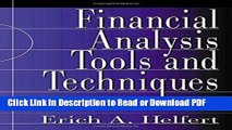 Read Financial Analysis Tools and Techniques: A Guide for Managers Free Books