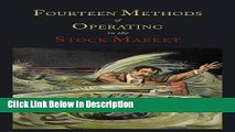 [PDF] Fourteen Methods of Operating in the Stock Market [PDF] Full Ebook
