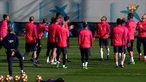 FC Barcelona training session: Final training session before Málaga