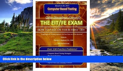 """Choose Book The EIT/FE Exam """"HOW TO PASS ON YOUR FIRST TRY"""": FastTrack: Over 330 Practice"""