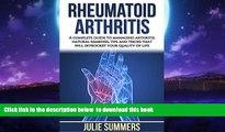 Best books  Rheumatoid Arthritis: A complete guide to managing arthritis: natural remedies, tips
