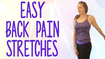 Beginners Stretches for Back Pain, Posture Tips, Neck & Low Back Pain Relief Exercises