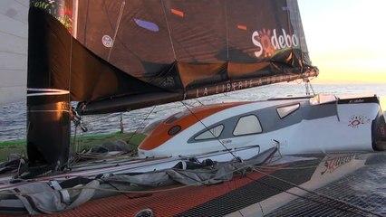 Tour du Monde Sodebo J+12 - La 5ème vidéo du bord en Atlantique Sud