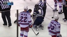 Hockey sur glace - Après 36 points de suture, Matt Calvert inscrit le but de la victoire