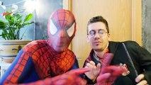 Spiderman w/ Frozen Elsa & Spiderbaby Doll Sick in Real Life! Fun Superhero ft Harry Potter, Hulk
