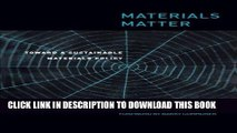 Ebook Materials Matter: Toward a Sustainable Materials Policy (Urban and Industrial Environments)