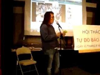 James Du phát biểu tại buổi hội thảo Tự Do Báo Chí