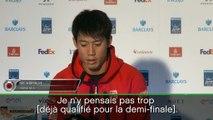 Masters - Nishikori : ''La défaite a été dure''