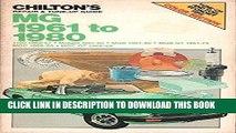 [PDF] Mobi Chilton s Repair   Tune-Up Guide: MG 1961 to 1980 (1100 1962-67, Midget 1961-80, MGB