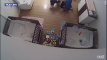 Florida 9-year-old catches, saves infant brother fromfall- Little boy catches baby brother  table
