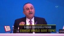 Çavuşoğlu'ndan Ermeni vekile haddini bildirdi.