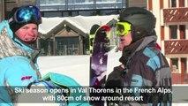 Ski season opens in Val Thorens