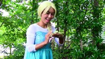 Maleficent kisses a frog w/ Spiderman & Frozen Elsa funny superhero video