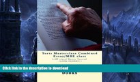 READ  Torts Masterclass Combined Essay/MBE class: LAW school Master Tutorial - LOOK INSIDE!! !