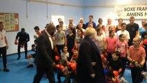 Boxe: Jean-Marc Mormeck en visite à Amiens Nord