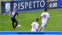 US Latina 1-1 Salernitana Calcio - All Goals Exclusive - (19/11/2016) / SERIE B