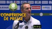 Conférence de presse FC Sochaux-Montbéliard - Tours FC (2-1) : Albert CARTIER (FCSM) - Fabien MERCADAL (TOURS) - 2016/2017