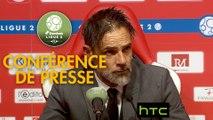 Conférence de presse Stade de Reims - Stade Lavallois (0-2) : Michel DER ZAKARIAN (REIMS) - Marco SIMONE (LAVAL) - 2016/2017