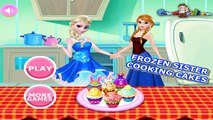 Frozen Sisters Cooking Cakes | princess frozen sisters games | Game for Girls