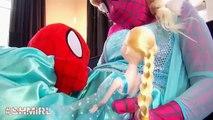 Frozen Elsa DOCTOR Spidergirl Spiderbaby Elsa sick Spiderman Doctor Superheroes in Real Life SHMIRL