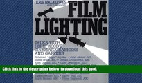 Best books  Film Lighting: Talks with Hollywood s Cinematographers and Gaffers BOOOK ONLINE