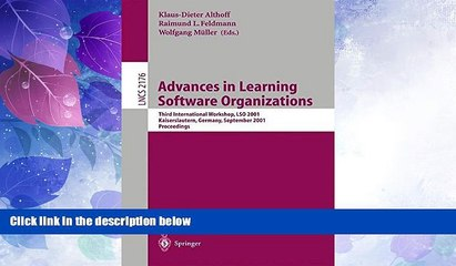 Big Sales  Advances in Learning Software Organizations: Third International Workshop, LSO 2001,