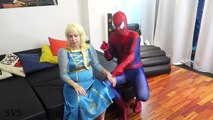 FROZEN ELSA vs EVIL ELSA! w/ Evil Spiderman vs Maleficent Pink Spidergirl Joker - Funny Superheroes