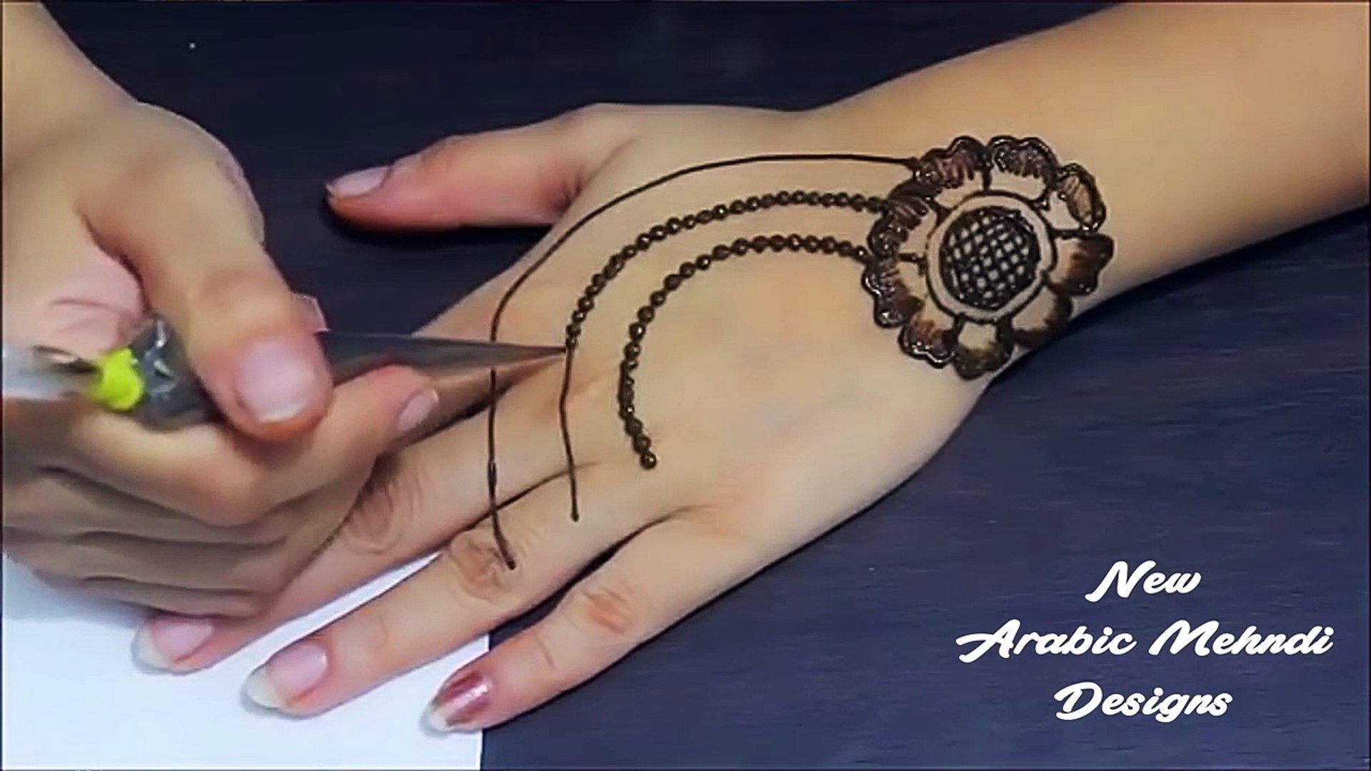 Easy Stylish Mehndi Designs For Hands Video Dailymotion