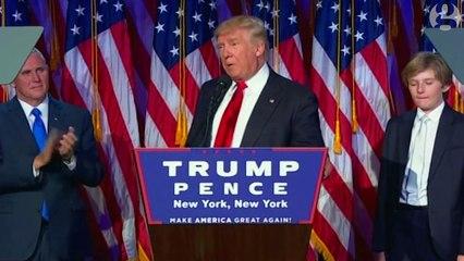 Donald Trump's victory speech in full – video