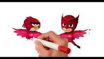 герои в масках злые птички раскраски для детей Angry Birds