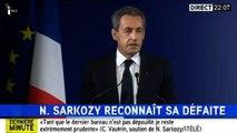 Primaire de la droite : le discours d'adieu de Nicolas Sarkozy (i-Télé)