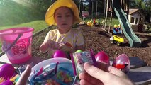 EASTER EGGS SURPRISE EGG HUNT SpiderMan Frozen Gummy Worms Sour Candy Toy Surprises