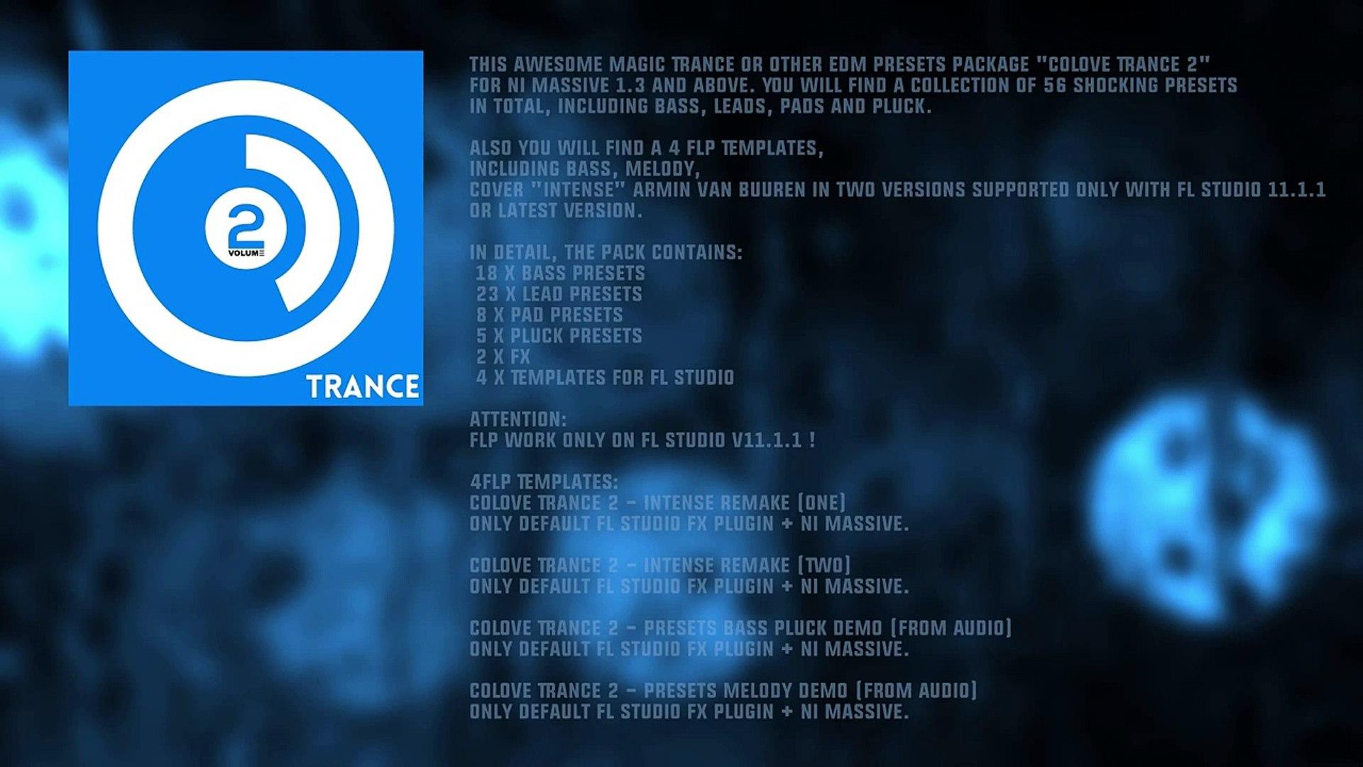 COLOVE Trance 2 for NI Massive (Presets + FLP)