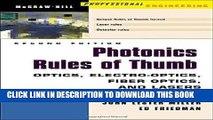 Ebook Photonics Rules of Thumb: Optics, Electro-Optics, Fiber Optics and Lasers Free Read