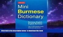 GET PDFbooks  Tuttle Mini Burmese Dictionary: Burmese-English / English-Burmese (Tuttle Mini