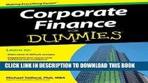 Best Seller Corporate Finance For Dummies Free Read