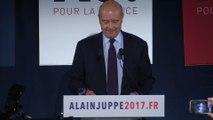 """Juppé """"continue le combat"""", """"projet contre projet"""" face à Fillon"""